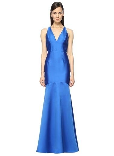 Askılı Uzun Abiye Elbise-Adriana Papell